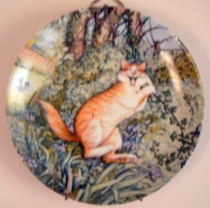 Zoe's Cats TARZAN Collector Cat Plate by Zoe Stokes MINT Vintage
