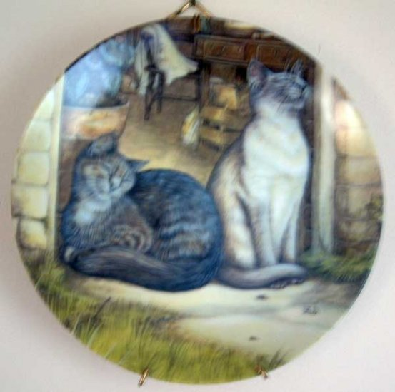 Zoe's Cats SUNSHINE Collector Cat Plate by Zoe Stokes MINT Vintage