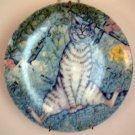 Zoe's Cats THE SNIFFER Collector Cat Plate by Zoe Stokes MINT Vintage