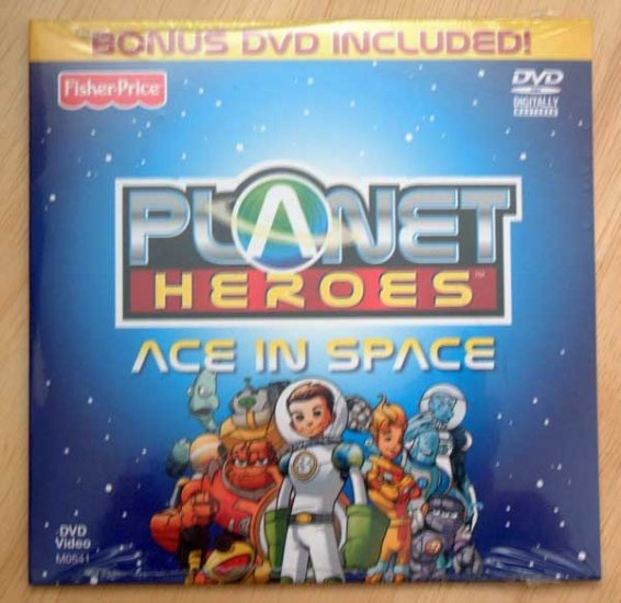 DVD Planet Heroes Cartoon w Color Poster Children Educational NIP