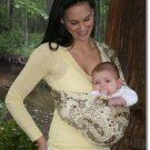 Sylvia stretch sateen baby sling with leg padding