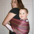 Rose stripe baby sling with leg padding