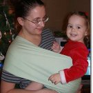 Mint stretch twill baby sling with leg padding