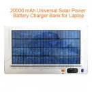 20000 mAh Universal Solar Power Battery Charger Bank for Laptop