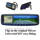 3.5- inch Rearview Mirror Monitor Supporting GPS and BLUETOOTH