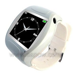 1.5 inch TFT Touch Screen MQ007 Watch Mobile Supports 3GP/MPEG4 Video(White)