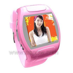 1.5 inch TFT Touch Screen MQ007 Watch Mobile Supports 3GP/MPEG4 Video(Red)