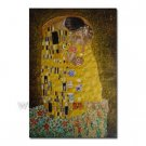Handmade Oil Painting - The Kiss by Gustav Klimt 48 inch x 72 inch