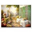 Handmade Oil Painting - My Veranda - 30 inch x 40 inch