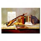 Handmade Oil Painting with Musical Instrument 24 inch x 36 inch