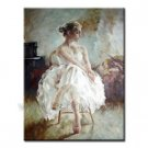 Handmade Classical Portrait Oil Painting Girl 36 inch x 48 inch