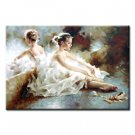 36 inch x 48 inch Handmade Real Oil Painting Dancing Girls