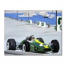 Handmade Oil Painting with Auto Racing 24 inch x 36 inch