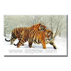 Handmade Oil Painting - Tigers - 30 inch x 40 inch