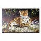 Handmade Animal Oil Painting on Canvas - Leopard 24 inch x 20 inch