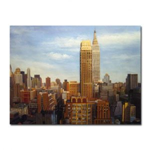 Oil Painting A Spectacular Manhattan Skyline 48 inch x 72 inch