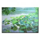 36 inch x 48 inch Handmade Real Oil Painting Lotus Pond