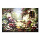 36 inch x 48 inch Handmade Real Oil Painting Garden