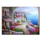 Handmade Oil Painting - Mediterranean Sea - 48 inch x 72 inch