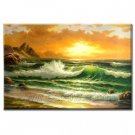 Handmade Oil Painting Beautiful Sea 48 inch x 72 inch
