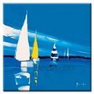 Handmade Oil Painting with Blue Sea 24 inch x 36 inch