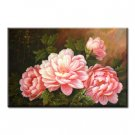 Handmade Oil Painting - Red Peony - 30 inch x 40 inch