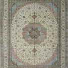 9'x12' Large Beige Hand Knotted Turkish Silk Area Rug/Carpet