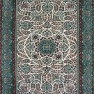 3'x5'Turquoise Hand Knotted Persian Oriental Silk Area Rug/Carpet