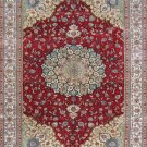 8'x10'Red Hand Knotted Persian Oriental Silk Area Rug/Carpet