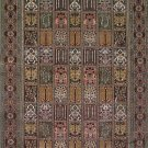 12'x18'Large Brown Hand Knotted Bijar Silk Area Rug/Carpet