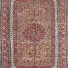 6'x9' Red Floral Hand Knotted Turkish Silk Area Rug/Carpet