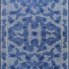 8'x10' Blue Chinese Modern Hand Knotted Silk Area Rug/Carpet