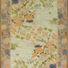 9'x12'Beige Floral Hand Knotted Silk Area Rug/Carpet