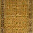 4'x6'Golden Hand Knotted Oriental Antique Silk Area Rug/Carpet
