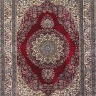 5'x8'Red Hand Knotted Kerman Silk Area Rug/Carpet