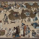 6'x2' Hand Knotted Chinese Silk Road Silk Area Rug/Tapestry