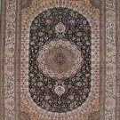 4'x6'Navy Hand Knotted Persian Oriental Silk Area Rug/Carpet