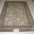 5'x8'Ocher Hand Knotted Turkish Silk Area Rug/Carpet