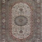 5'x8'Brown Hand Knotted Persian Oriental Silk Area Rug/Carpet
