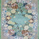 3'x5'Grey Floral Hand Knotted Chinese Silk Area Rug/Carpet
