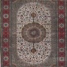 5'x8'Beige Hand Knotted Persian Oriental Silk Area Rug/Carpet