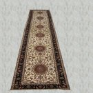 3'x18'Beige Hand Knotted Persian Oriental Silk Runner Rug/Carpet