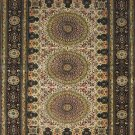 3'x5'Beige Medallion Hand Knotted Oriental Silk Area Rug/Carpet