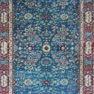 3'x10'Blue Floral Hand Knotted Runner Silk Area Rug/Carpet B1
