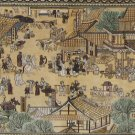 2'x6'Brown Song Dynasty Hand Knotted Chinese Silk Area Rug/Tapestry 8