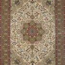 4'x6'khaki Nain Hand Knotted Traditionl Silk Area Rug/Carpet 15