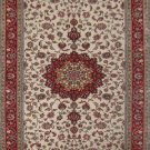 3'x5' Red Floral Hand Knotted Silk Oriental Area Rug/Carpet