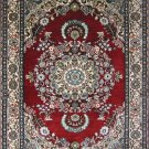 2'x3'Small Red Medallion Hand Knotted Oriental Silk Area Rug/Carpet