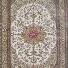 8'x10'Large Beige Hand Knotted Persian Oriental Silk Area Rug/Carpet 16