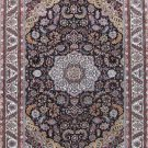 4'x6'Blue Hand Knotted Persian Oriental Silk Area Rug/Carpet 9
